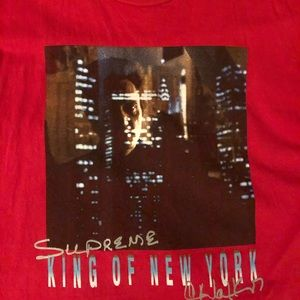 Supreme red king of New York tee